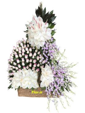 سبد گل بزرگ و تشریفاتی 270